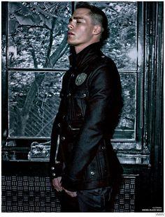 Colton Haynes Dons Leather for VMAN Fall/Winter 2014 Issue image colton haynes vman photo 006 800x1056