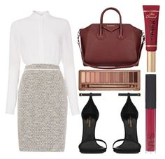 """""""Business Woman"""" by mariam-jolie ❤ liked on Polyvore featuring HUGO, Yves Saint Laurent, Urban Decay, Givenchy, NARS Cosmetics and Too Faced Cosmetics"""