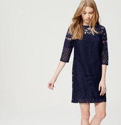 Lace Shift Dress | Loft