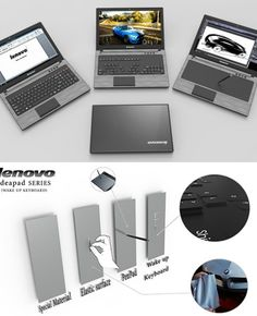 The Lenovo Wake Up Keyboard is an innovative solution that aims to revolutionize the way we game, work and design on laptops. Named for its reappearing keys, the design utilizes an elastic, semi-translucent surface material and a system of vertically moving keys that push and glow through the surface. #Lenovo #Technology #Yankodesign
