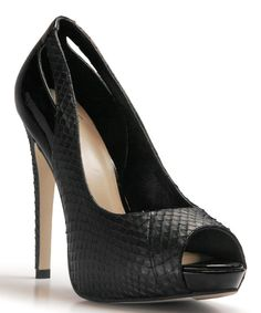 Look at this Black Snake Taylor Leather Pump on #zulily today!