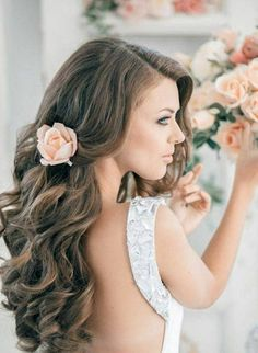 15 Most Classic Looking Curly Wedding Hairstyles, With wedding plans come, there are numerous vital decisions come as well. We hope these curly wedding hairstyles would be helpful for you to get inspi. Beach Hairstyles For Long Hair, 2015 Hairstyles, Wedding Hairstyles For Long Hair, Bride Hairstyles, Headband Hairstyles, Down Hairstyles, Simple Hairstyles, Bridesmaid Hairstyles, Easy Hairstyle