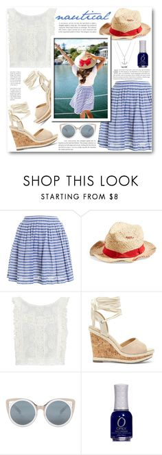 """Nautical"" by katrinaalice ❤ liked on Polyvore featuring Hutch, Grace Hats, MINKPINK, Sole Society, Erdem and Lucky Brand"