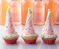 If you're looking for cute recipes to use for a little girl's birthday party, you've come to the right place. These creative princess cupcakes are decorated with candy, which kids will absolutely love.