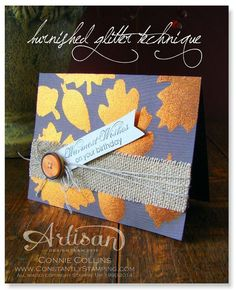 I found this on stampinup.com. So pretty for fall!