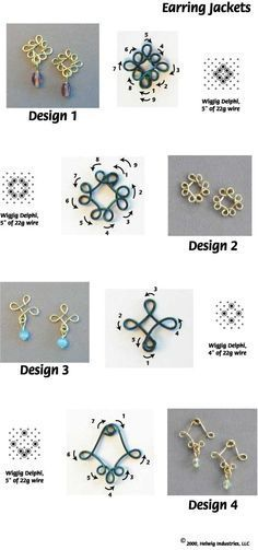 Instructions for making Wire and Beads Earring Jackets using common jewelry making supplies.