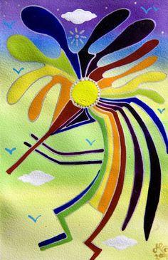 Rainbow Kokopelli - Jeff Phillips