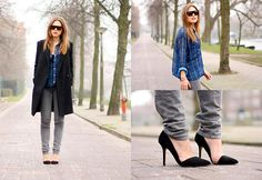 Céline Sunglasses, American Apparel Shirt, Replay Jeans, Queens Wardrobe Coat, Zara Shoes