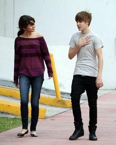 Selena Gomez and Justin Bieber in 2010