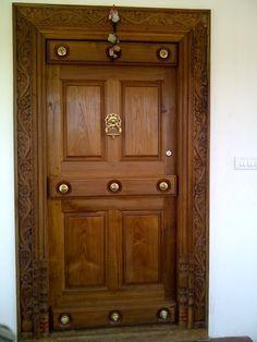 Home Main Door Design Photos - Cleverkina Indian Main Door Designs, Single Main Door Designs, House Main Door Design, Main Entrance Door Design, Wooden Front Door Design, Room Door Design, Wooden Front Doors, Door Design Interior, Home Design