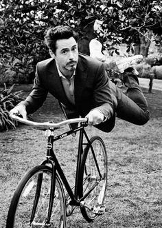 Robert Downey Jr. He's beautiful even when acting ridiculous. My kind of man...