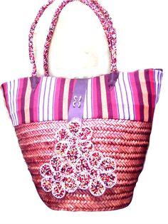 Handbag – Gorgeous handmade Straw Basket – a unique product by Delvi-International on DaWanda