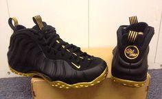 Nike Air Foamposite One Black & Gold Customs by Sole Swap | KicksOnFire
