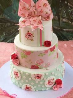 shabby chic pink and green antique rose
