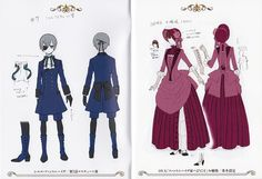 Yana Toboso, A-1 Pictures, Kuroshitsuji, Ciel Phantomhive, Character Sheet