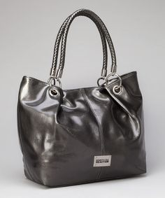 0781efcc03 Kenneth Cole Reaction Gunmetal Woven-Handle Tote. WeavingHandleTote  HandbagsPurses And BagsDesigner ...