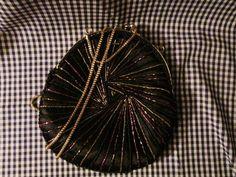 Magid Black Satin Evening Bag / Purse by trackerjax on Etsy