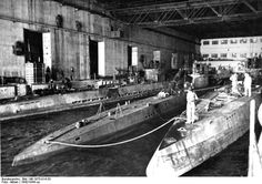 NOV 2 1944 A U boat Captain returns to bombed out Germany A German picture of the U boats in their massive concrete bunker at Brest in 1942. It was not until 1944 that the RAF developed bombs capable of penetrating them.