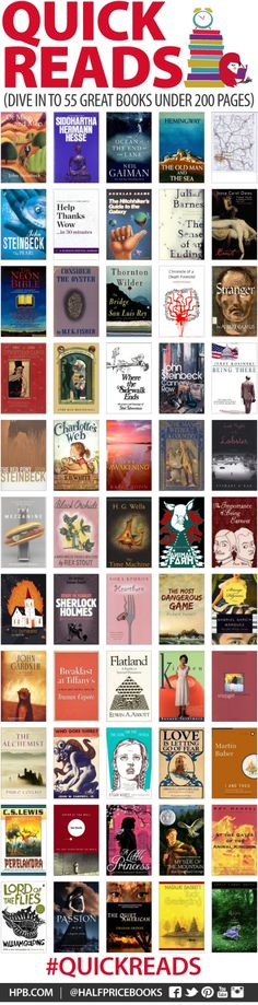 QUICK READS - 55 great #books under 200 pages