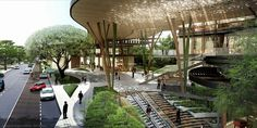 The Benefits Of Landscape Architecture Green Architecture, Landscape Architecture, Landscape Design, Architecture Design, Canopy Architecture, Contemporary Architecture, Ville Durable, Mall Design, Walking Street