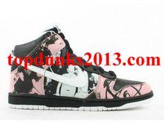 UNKLE Edition White Pink Black Nike Dunk High Top Pro SB Internet Sales