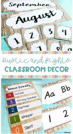 This rustic classroom decor set has everything you need for fun and sophisticated classroom. It can be used with lots of different classroom themes too, such as farm house, shabby chic, woodlands, and more. #classroom #classroomdecor #classroomsetup #rustic #theme #backtoschool