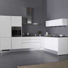 Modern Home Decor Kitchen One Wall Kitchen, Kitchen Rules, Home Decor Kitchen, New Kitchen, Kitchen Cupboard Designs, Kitchen Cupboards, White Gloss Kitchen, Kitchen Diner Extension, Luxury Kitchen Design