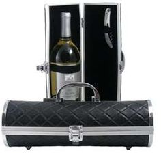 Gala Black Quilted Wine Purse