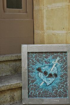 reclaimed mosaics - a world of inspiration - flaming heart