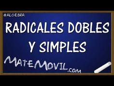 Ejercicios resueltos de como transformar radicales dobles a simples, y simples a dobles.