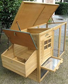 Pets Imperial® Devonshire Large Chicken Coop Hen House Ark Poultry Run Nest Rabbit Hutch Box Suitable For Up To 4 Birds - Integrated Run & Cleaning Tray & Innovative Locking Mechanism: Amazon.de: Haustier