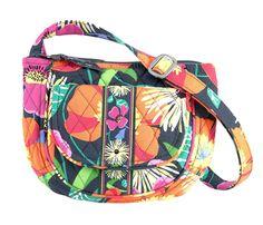 Vera Bradley Lizzy Jazzy Blooms Crossbody Purse Bag Wallet Card Slots NWT $48