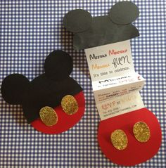 Mickey Mouse Birthday Invitations - Pull up the Mickey ears to reveal the party details!
