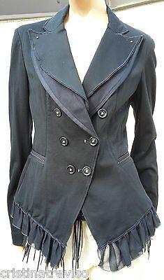 HIGH use veste blazer bleu foncé 40 F navy jacket 38 D giacca blu 44 NEW