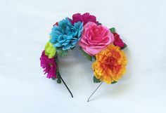 Flor mexicana corona corona de flores día de por BloomDesignStudio