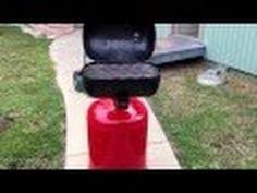 Propane tank grill - YouTube