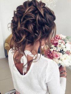 Coiffure De Mariage : Half-updo, Braids, Chongos Updo Wedding Hairstyles | Deer Pearl Flowers...