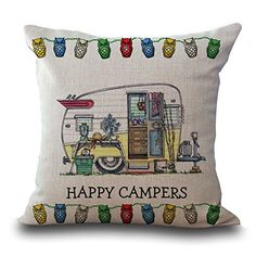 Cartoon Camping Touring CartoonCar Printing Cotton Embrace Pillow Case Bay Window By Pillow Case Dorp Shipping Camper Cushions, Linen Pillows, Cotton Pillow, Cushions On Sofa, Cotton Linen, Decorative Pillow Cases, Throw Pillow Cases, Sofa Cushion Covers, Pillow Covers