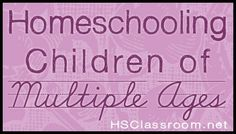 homeschooling children of multiple ages