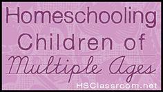 homeschooling children of multiple ages