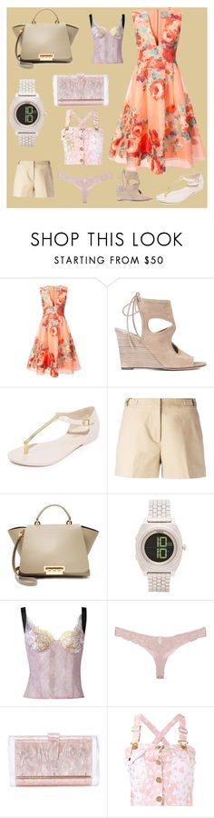 """glossy fashion"" by denisee-denisee ❤ liked on Polyvore featuring Lela Rose, Aquazzura, Melissa, MICHAEL Michael Kors, ZAC Zac Posen, Nixon, Natasha Zinko, Fleur du Mal, Edie Parker and House of Holland"