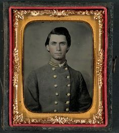 Captain Jesse Sharpe Barnes, F Company, 4th North Carolina Infantry in frock coat.