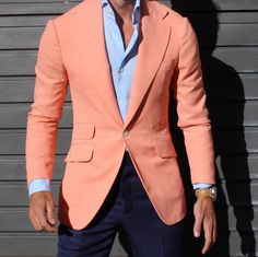 Casual. Blazer. The Peach Jacket . All by Absolutebespoke — Absolute Bespoke