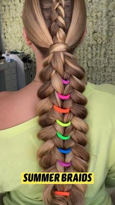 Braids For Long Hair, Summer Braids, Cool Braids, Braids For Girls, Long Hair Tips, Cute Hairstyles, Easy Hairstyles For Long Hair, Scarf Hairstyles, Summer Hairstyles