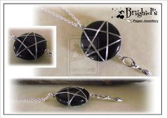 Wire Wrapped Onyx Pentagram and Goddess Pendant by JewelleryByBrighid.deviantart.com on @deviantART