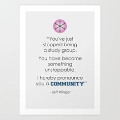 Community Quote Print Art Print by Curnee
