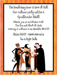 Cocktail Invite With Wording For Halloween Myexpression Com