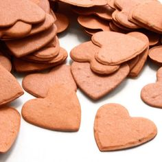 Burnt Orange Heart Shaped Plantable Confetti from Daisy Giggles