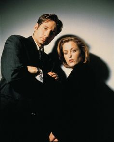 David Duchovny & Gillian Anderson as Mulder & Scully
