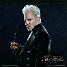 "only-johnny-depp: "" ""- Your name will be written in glory when wizards rule the world…"" ~Grindelwald. 18 DAYS to ""Fantastic Beasts: The Crimes of Grindelwald"" world premiére. Harry Potter Friends, Harry Potter Anime, Harry Potter World, Johnny Depp Characters, Johnny Depp Movies, Gellert Grindelwald, Crimes Of Grindelwald, Fantastic Beasts Movie, Fantastic Beasts And Where"